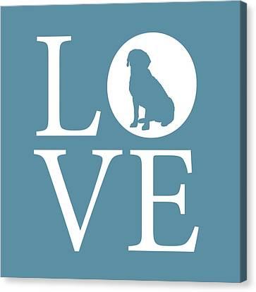 Labrador Love Canvas Print by Nancy Ingersoll
