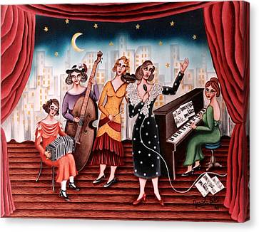 Ladies Orchestra Canvas Print by Graciela Bello