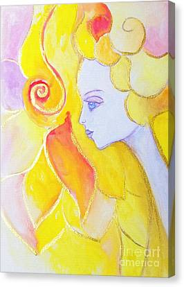 Lady Autumn Canvas Print by Lil Owl Studio
