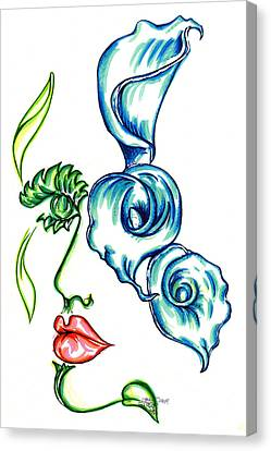Lady Calli Lilly Canvas Print by Judith Herbert