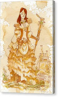Lady Codex Canvas Print by Brian Kesinger