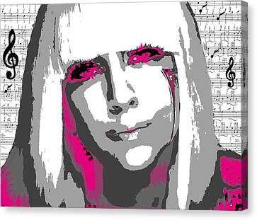 Lady Gaga Canvas Print by Brad Scott