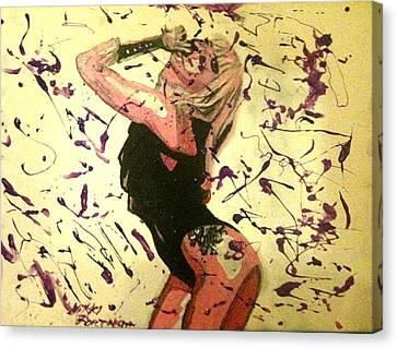 Lady Gaga Canvas Print by Nikki Portanova