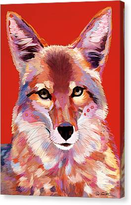 Lady In Red Canvas Print by Bob Coonts
