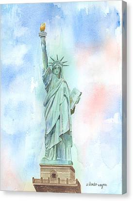 Lady Liberty Canvas Print by Arline Wagner