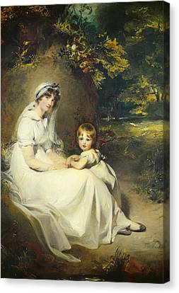 Lady Mary Templetown And Her Son Canvas Print by Sir Thomas Lawrence