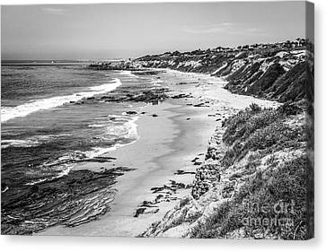 Laguna Beach Ca Black And White Photography Canvas Print by Paul Velgos