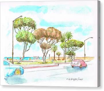 Laguna Beach Waterfront - California Canvas Print by Carlos G Groppa