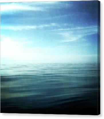 Lake And Sky Canvas Print by Michelle Calkins