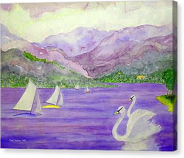 Lake Annecy France Canvas Print by Fred Jinkins