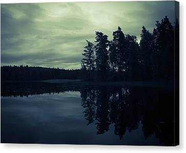 Lake By Night Canvas Print by Nicklas Gustafsson