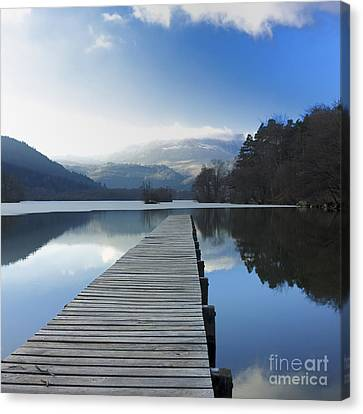 Lake Chambon. Auvergne. France Canvas Print by Bernard Jaubert