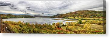 Lake Champlain Fall Colors Canvas Print by John Haldane