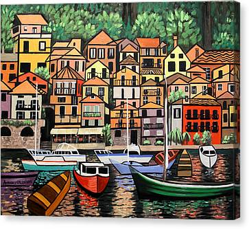 Lake Como Italy Canvas Print by Anthony Falbo