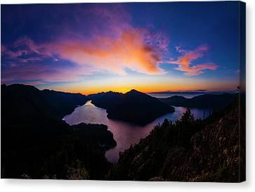 Lake Crescent Sunset Canvas Print by Pelo Blanco Photo