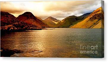 Lake District Cumbria Uk Canvas Print by Steven Brennan