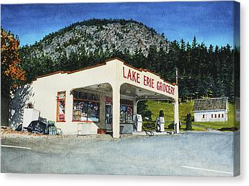 Lake Erie Grocery Canvas Print by Perry Woodfin