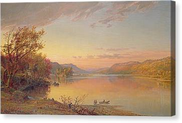 Lake George - Ny Canvas Print by Jasper Francis Cropsey