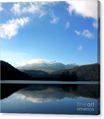 Lake In Auvergne Canvas Print by Bernard Jaubert