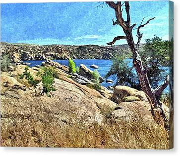 Lake In The Dells 1 Canvas Print by John Trommer
