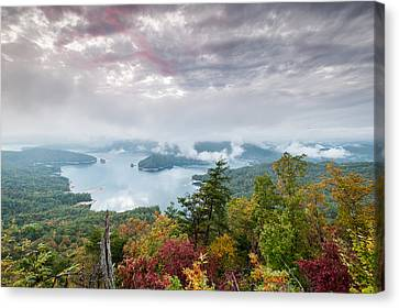 Lake Jocassee Clearing Storm Sunset Canvas Print by Mark VanDyke