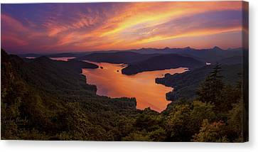 Lake Jocassee Canvas Print by Taylor Franta