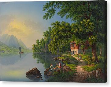 Lake Lucerne Switzerland  Canvas Print by Movie Poster Prints