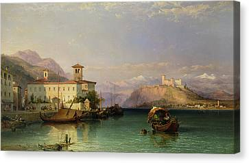 Lake Maggiore Canvas Print by George Edwards Hering