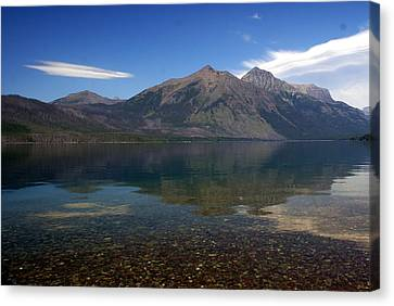 Lake Mcdonald Reflection Glacier National Park 2 Canvas Print by Marty Koch