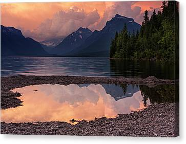 Lake Mcdonald Sunset Canvas Print by Mark Kiver