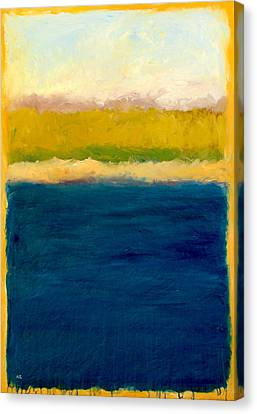 Lake Michigan Beach Abstracted Canvas Print by Michelle Calkins