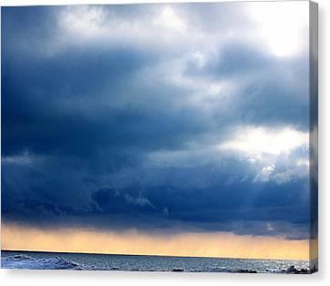 Lake Michigan Sky Canvas Print by Andrew Jagniecki