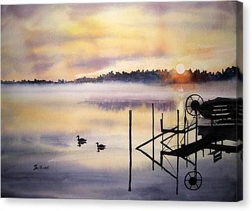 Lake Mist Canvas Print by Shirley Braithwaite Hunt