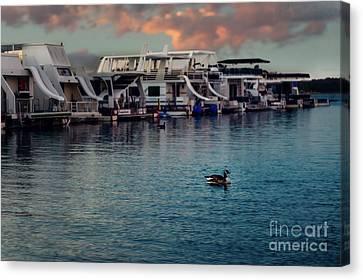 Lake Murray Morning At The Marina Canvas Print by Tamyra Ayles