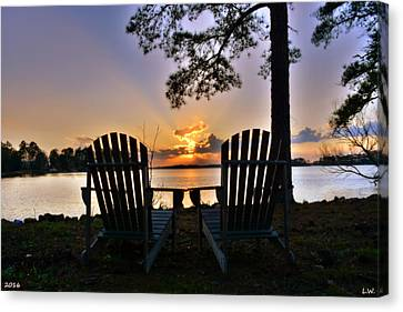 Lake Murray Relaxation Canvas Print by Lisa Wooten