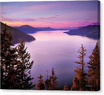 Lake Pend Oreille 2 Canvas Print by Leland D Howard