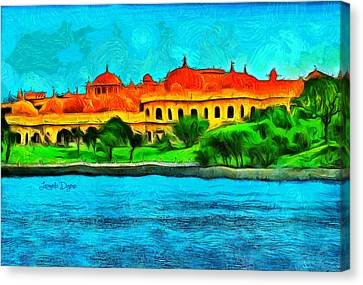 Lake Pichola Canvas Print by Leonardo Digenio