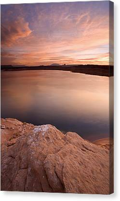 Lake Powell Dawn Canvas Print by Mike  Dawson