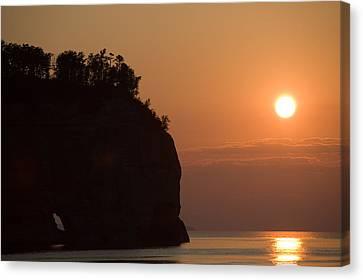 Lake Superior Sunset Canvas Print by Sebastian Musial