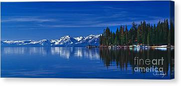 Lake Tahoe Reflections Canvas Print by Vance Fox