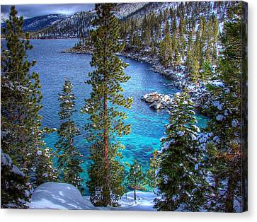 Lake Tahoe Winterscape Canvas Print by Scott McGuire