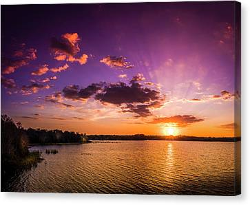Lake Tarpon Sunset Canvas Print by Marvin Spates