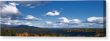 Lake Winnipesaukee New Hampshire In Autumn Canvas Print by Stephanie McDowell