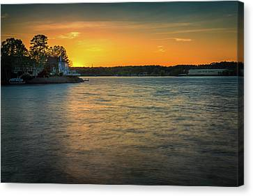 Lake Wylie Sunset Canvas Print by Michael Svach
