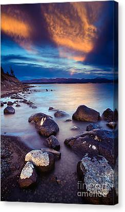 Lake Yellowstone Canvas Print by Inge Johnsson