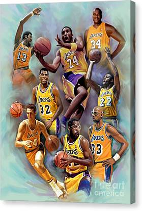 Lakers Legends Canvas Print by Blackwater Studio