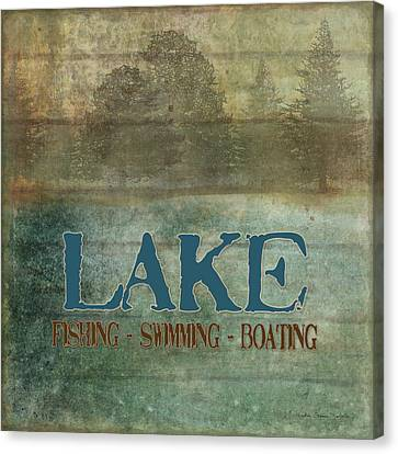 Lakeside Lodge - Lake Life Canvas Print by Audrey Jeanne Roberts