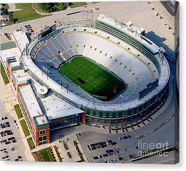 Lambeau Field Green And Gold Canvas Print by Bill Lang