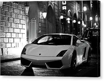Lambo Noir Canvas Print by Patrick English