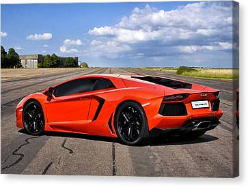 Lambo Runway Canvas Print by Peter Chilelli